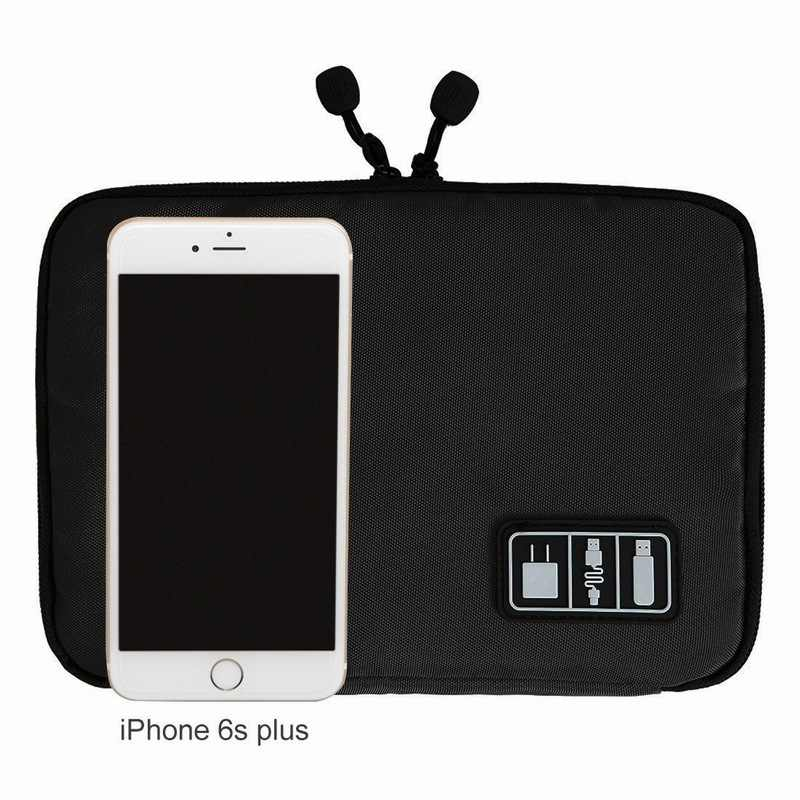 Portefeuille Cellphone Accessories Travel Bag Holder For iPhone 8 Plus 7 6S Cell phone USB Power Bank Cable Organizer Carry Case
