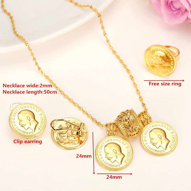 24k gold coin jewelry setsethiopian coin set necklace twin pendant 24k gold coin jewelry setsethiopian coin set necklace twin pendant earrings ring habesha wedding eritrea africa arab gift in jewelry sets from jewelry aloadofball Choice Image