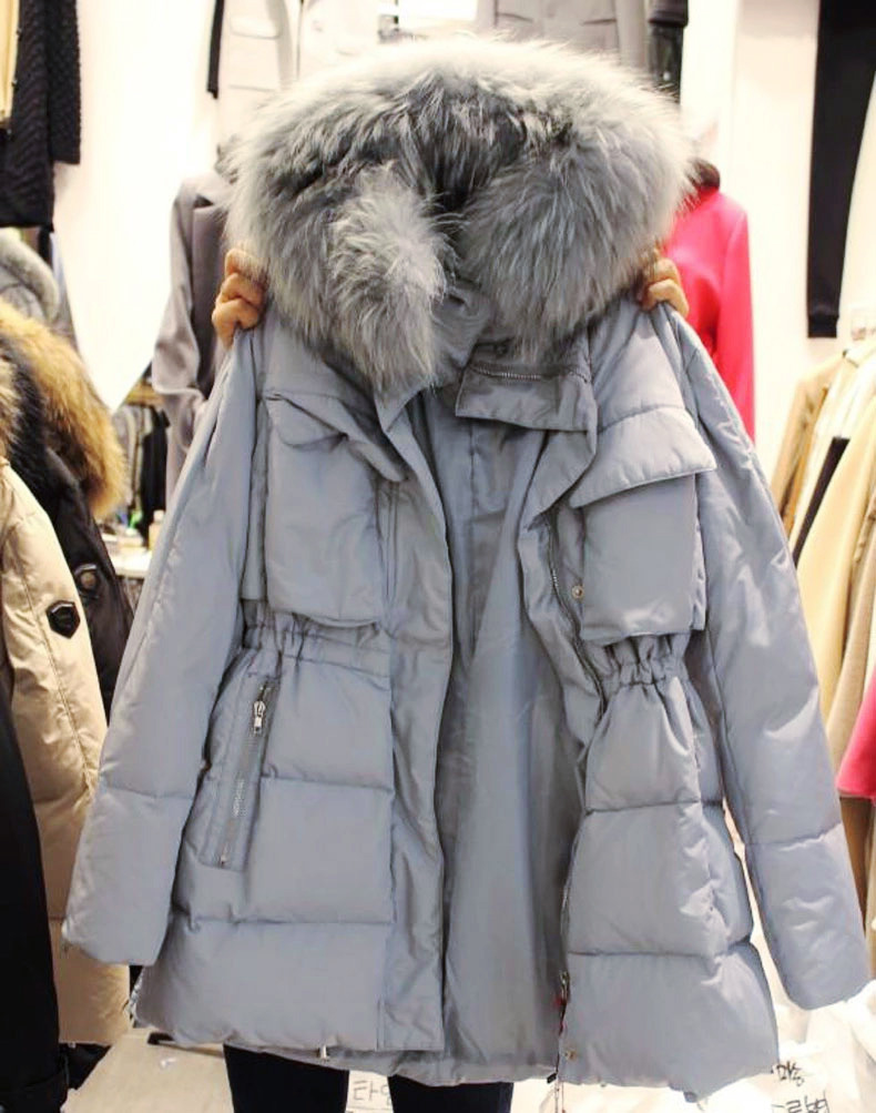 Adibo Manteau Femme Winter Jacket Women Winter Coat Womens Winter Jackets And Coats Plus Size With Large Fur Collar Casaco 04