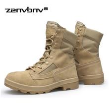 Autumn/Winter Men's Outdoor High Top Army Combat Boots Shoes Men Forces Military Tactical Desert Boots Botas Hombre Ankle Boots