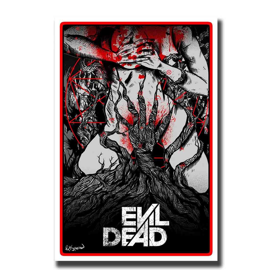 Ash Horror Army of Darkness illustration ART PRINT Evil Dead Movie Wall Art