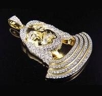 Iced Out Hip Hop Vintage Necklaces Hot Brand 18K Gold Cz Guy Pendant Long Necklace Chain