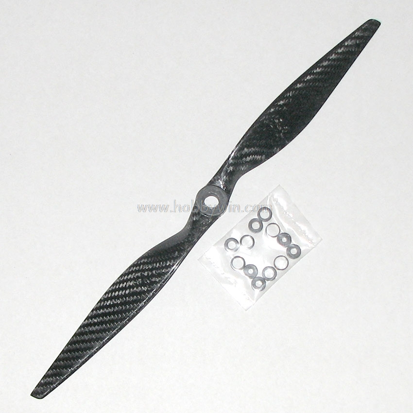 14x7 Carbon Fiber Composite Propeller for electric motor RC Model Airplane Adaptor Ring 5mm 6mm hobby parts image
