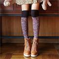 2016 High Stocking Pantyhose Tattoo Top Tights Over Knee Lady Student Cosplay Lolita Stocking  Warm Long Cotton Student Stocking