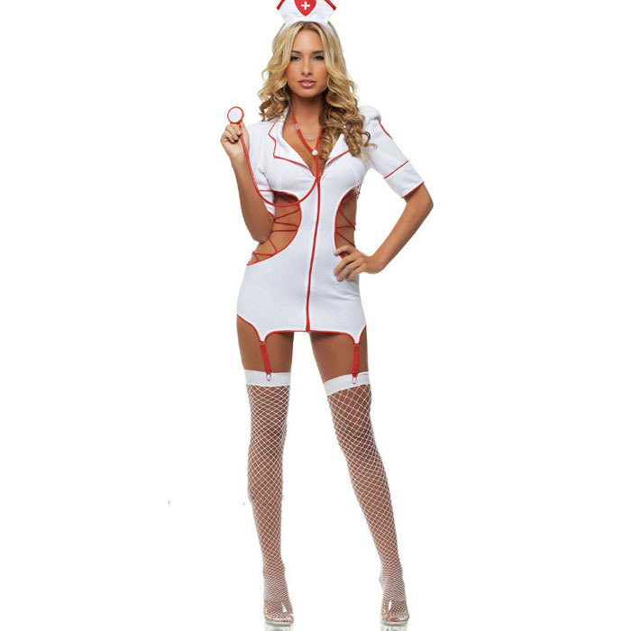 Buy 2017 hot sale sexy hollow nurse costumes Sexy Lingerie hot Charming lace sexy costumes erotic lingerie sexy underwear 0257