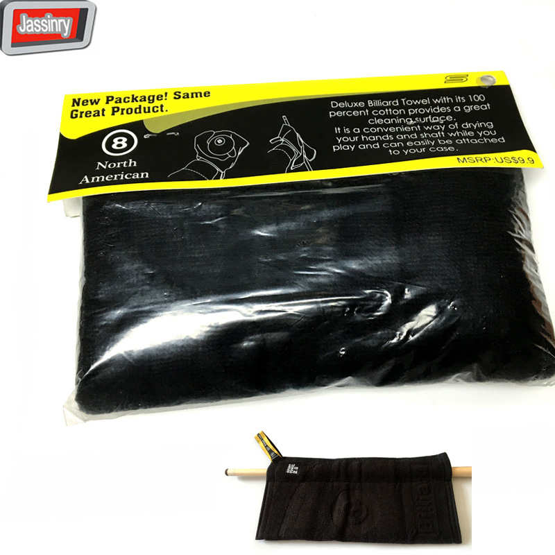 1pc black 8 Deluxe Professional Billiard Towel Cleaning Cloth Snooker Cue Polisher Pool Cue Rod wiping Cloth