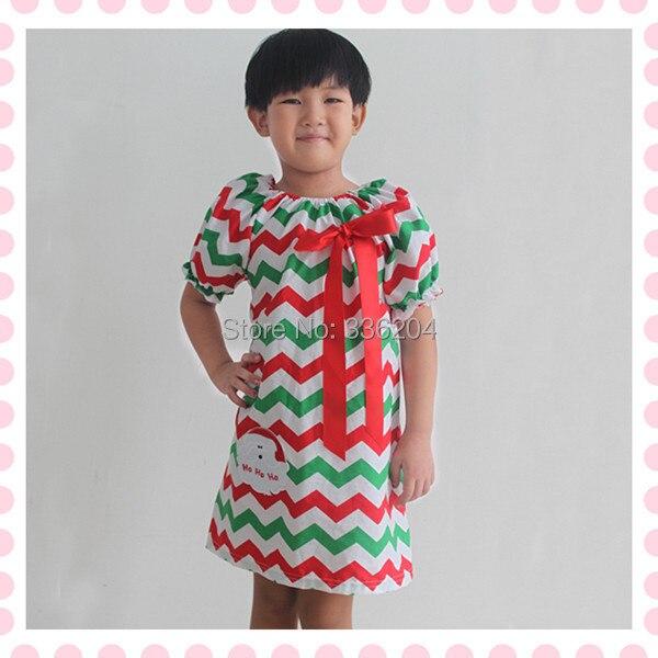 e314b8dadc30 Green Red Christmas chevron dress with Santa Claus