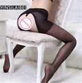 Ultrafinos Ladies Black Lace Crotchless Collants Mulheres Femme Collant Virilha Aberta Meia-calça Meias Sexy Meia-calça Mulheres QQ125 #34
