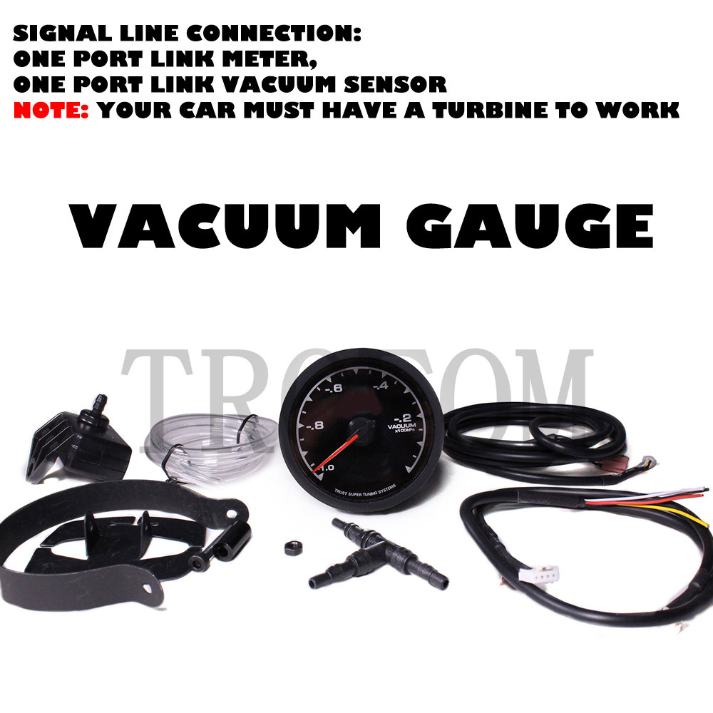 Auto Car Digital Vacuum Gauge Meter Greddi Led Light For Bmw E90 Ecu Wiring Diagram Honda Accord Cg Mustang Ford Performance Toyota Mazda Audi Kia In Gauges From