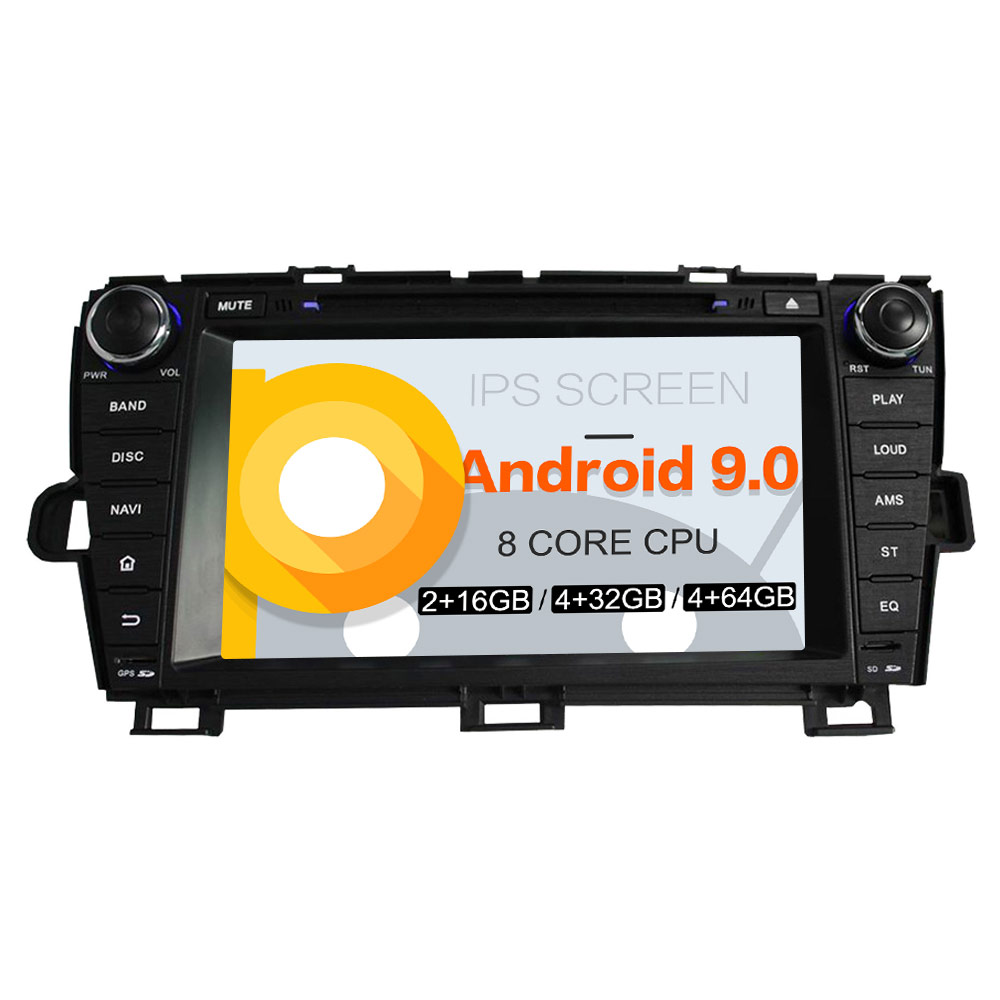 Android 9 0 Car DVD Player GPS Navigation Stereo head unit For Toyota Prius 2009 2013