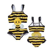 Swimwear Swimsuits Bikini Bathing-Suit Baby-Girls One-Piece Kids Cartoon Summer Animal