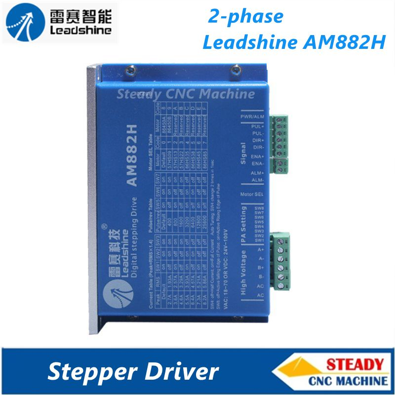 Leadshine 2-phase stepper driver AM882H work 36-80VDC out 2.7A-8.2A CNC Drivers periche корректор цвета out colors personal phase 1 phase 2 2 х 150 мл