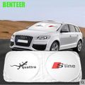 ПВХ Sline автомобилей зонт украшение интерьера автомобиля для Audi A6 A5 A7 A3 A4 A4L A6L TT Q3 Q5 S3 S5 S7