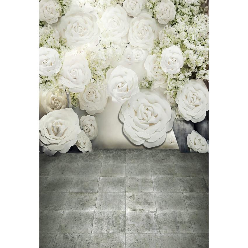 Custom Photography Backdrop Props Wedding White Flowers