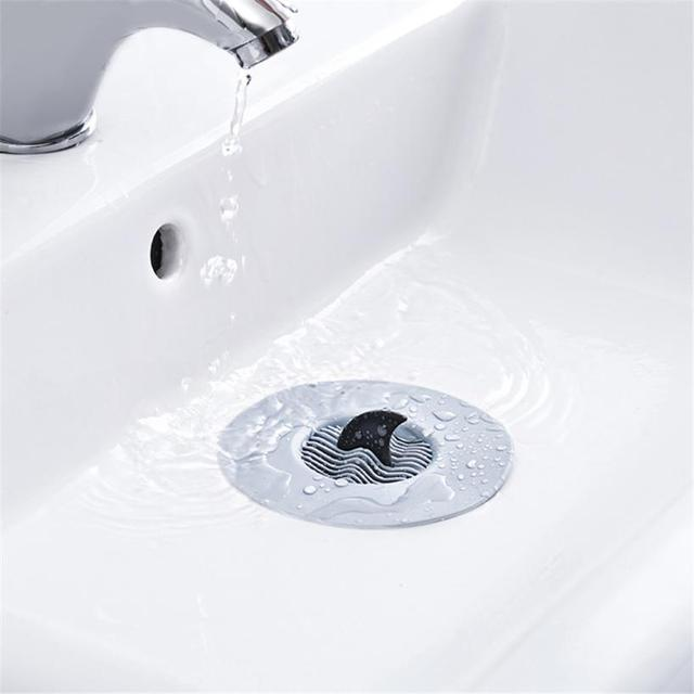 Kitchen Bathroom Floor Sink Drain Filter Wave Stopper Hair
