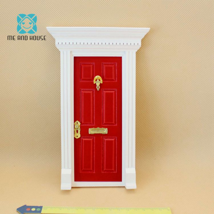 1:12 Dollhouse Miniature Fairy Door Mini Dolls Parts Children's Gift 4 Colors Dollhouse Accessories