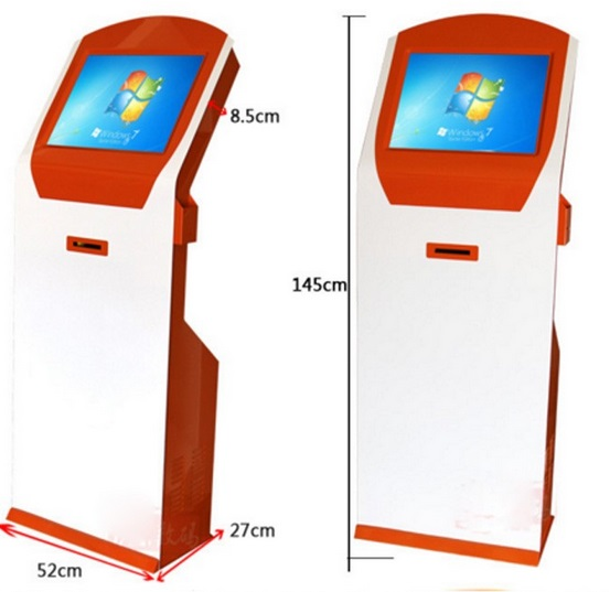 Customize 19inch' LCD Wifi Touch Advertising Signage With Printer And Cam Games Player Touch Screen Kiosk Displays Totem