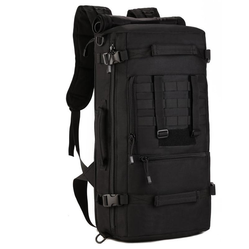 50L Large Capacity Men Travel Bag Outdoor Mountaineering Backpack Hiking Camping Multi-purpose Nylon Bucket Shoulder Bags
