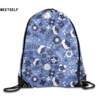 3D Print Kapok Patterns Shoulders Bag Women Fabric Backpack Girls Beam Port Drawstring Travel Shoes Dust