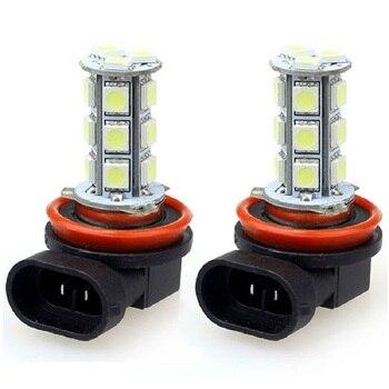 цена на Car Headlight LED 5050 18 SMD H11 H8 Bulb Car-styling LED Lamps for Cars DC12V Driving Fog Lights White Car Light