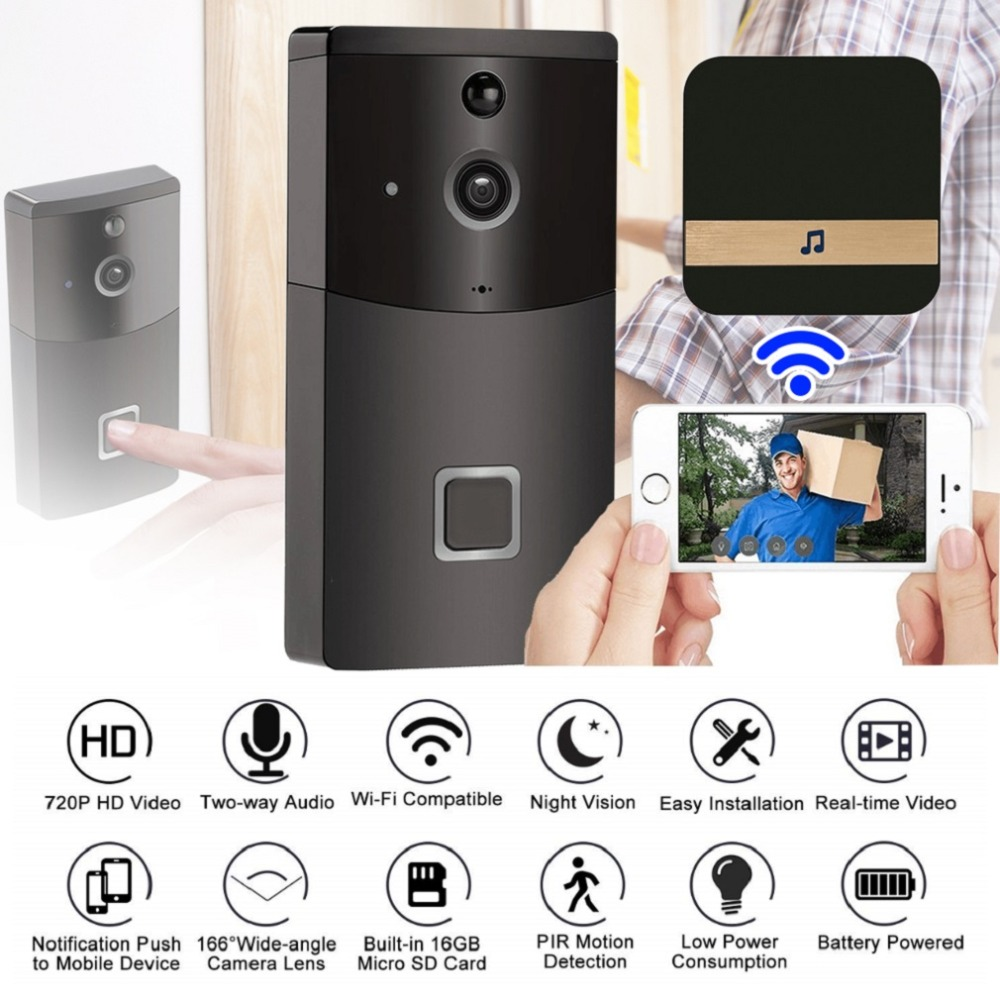 New 720P 2.4GHz WIFI Doorbell Two-way Audio Infrared Night Vision PIR Detection Home Security System Low Power ConsumptionNew 720P 2.4GHz WIFI Doorbell Two-way Audio Infrared Night Vision PIR Detection Home Security System Low Power Consumption