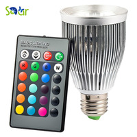 RGB LED Bulb E27 10W AC 85 265V LED Lamp Light Led Spotlight Bulb 16 Color