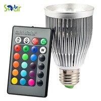 RGB DẪN Bóng E27 10 Wát AC 85 ~ 265 V LED Ánh Sáng Đèn Spotlight Bulb 16 Thay Đổi Màu thay đổi độ sáng + Điều Khiển Từ Xa