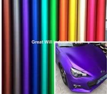 Eis Satin Chrome Vinyl Wrap Film Air Freies Metallic Matt Chrome Auto Wrap Abdeckt Stil Auto Aufkleber Folie 1,52*20 m/Rolle/5ftx67ft(China)