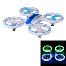 JIN XING DA JXD 398 JXD398 Lighting RC Quadcopter 2.4G 4CH 6 Axis Mini Drone Helicopter UFO with Fantastic LED Night Lights