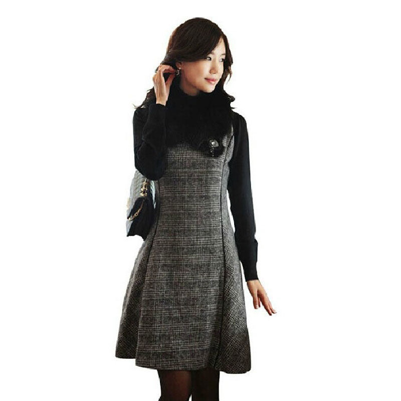 Plaid Winter Dresses for Women