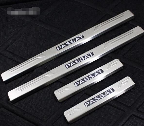ФОТО VW Passat B6 LED Stainless Steel Door Sill Scuff Plater 2006-2011