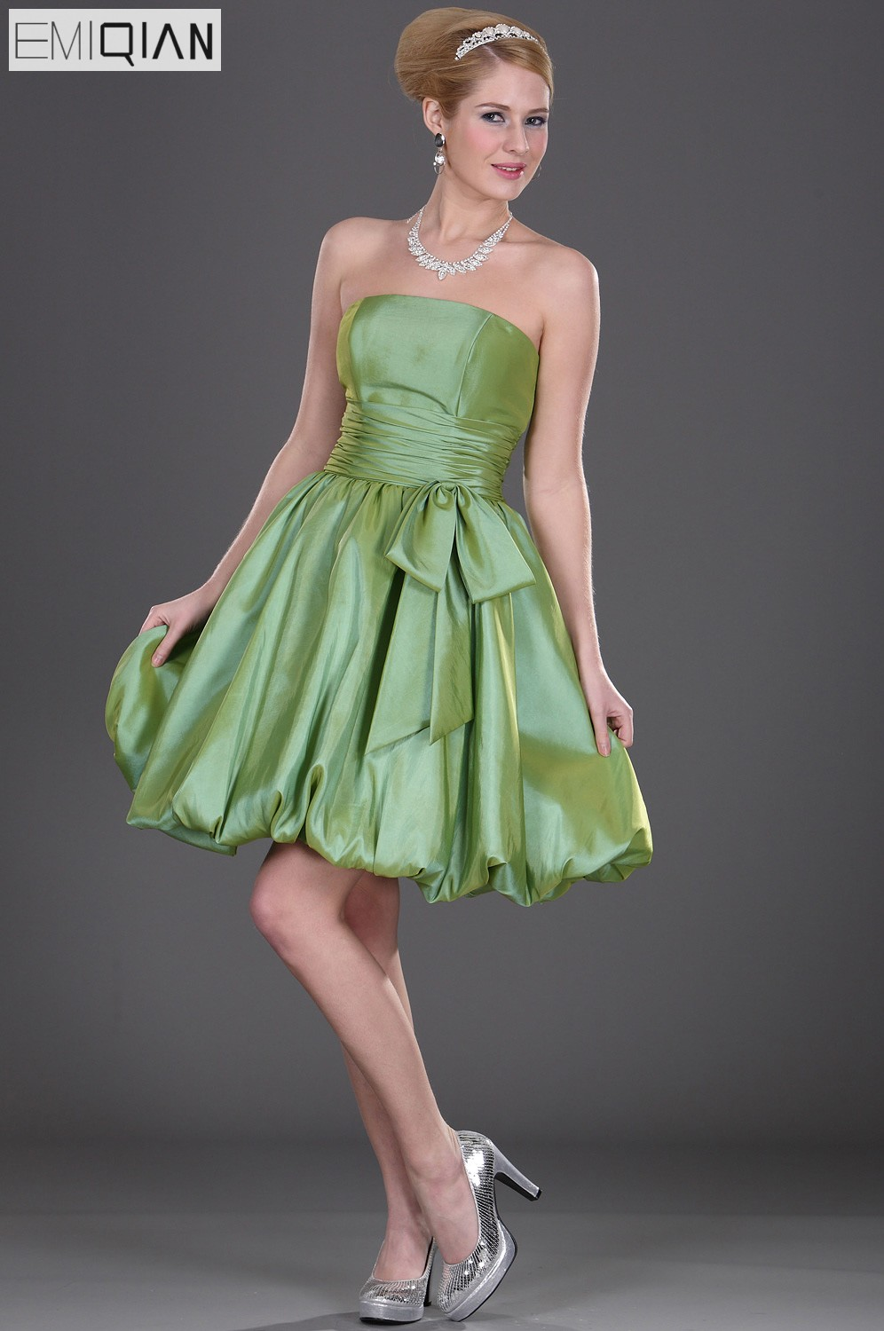 Free Shipping Strapless Ball Gown Formal Wedding Party Dress Short ...