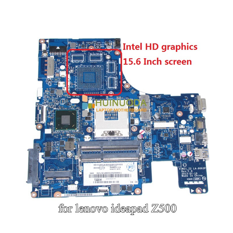 NOKOTION VIWZ1 Z2 LA-9063P Main Board For Lenovo ideapad Z500 Laptop Motherboard HD4000 HM76 DDR3 laptop motherboard for lenovo ideapad g580 qiwg5 g6 g9 la 7981p 71jv0138003 hm76 nvidia gt630m ddr3