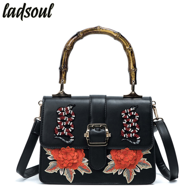 Ladsoul Flower With Cartoon Women S Handbags Luxury Bag Famous Brand Vintage Female Tote