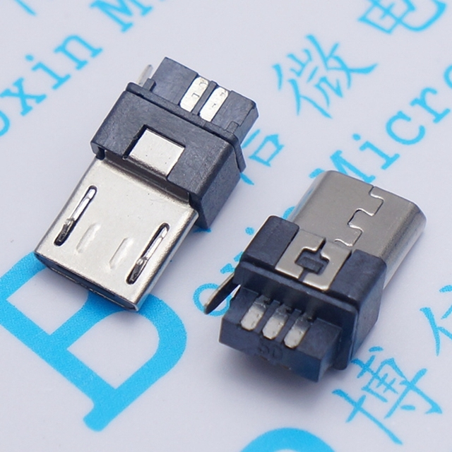 10pcs Micro USB 5pin Male Plug Connector Welding Type for Tail Charging Mobile Phone High Quality Sell At A Loss USA