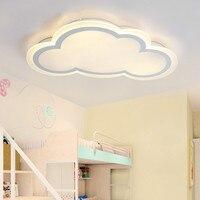 Modern minimalist ultra thin cloud acrylic led ceiling light creative personality white iron children room lighting AC110 240V