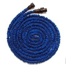 Free Shipping Wholesale 75FT(22.86M) Garden Water Hose Expandable Flexible hose Garden hose in Strong Rubber+ 7 Forms Spary Gun