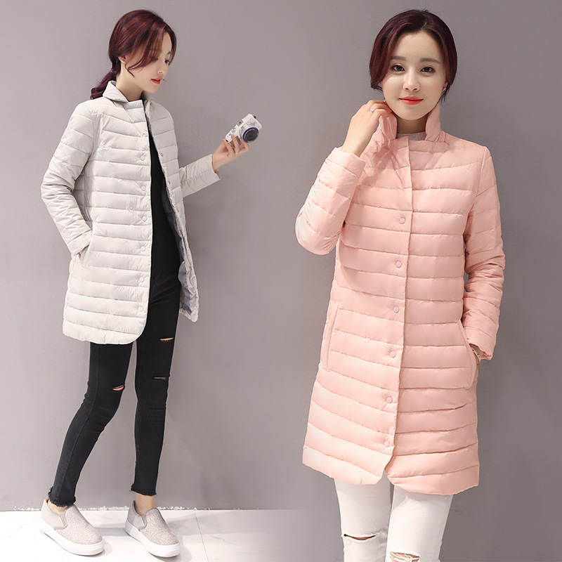 911f893ea 2017 Thin Women Quilted Parkas Long Women Cotton Padded Jacket ...