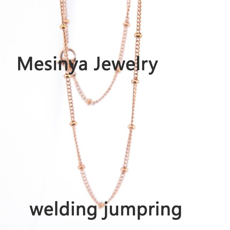 20 штук 30 из нержавеющей стали IP PVD цвета розового золота покрытием мяч станция ожерелье цепь для плавающей очарование стекла медальон, нет ...