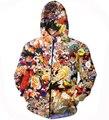 Free shipping Anime Dragon Ball Z Characters Zipper Outerwear Vegeta Goku 3D Hoodies Tracksuits Women/Men Hooded Sweatshirt