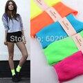 10 pares = 1 lote de Colores Casual Algodón Largo Lindo Mujeres Calcetines Fluorescencia Tubo Japonés Divertido Barato Calcetines Femeninos MF96587