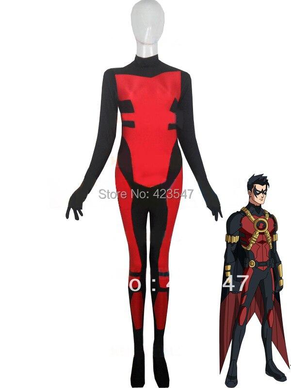 Red Robin  Spandex Superhero Costume Costume Halloween Party Costumes-Zentai