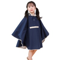 Rain Cover Kids Raincoat Children Girl Boys Rain Poncho For School High Quality Rainwear With Schoolbag Positio Waterproof