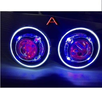 Pair hot sale J239 7 inch 35W round LED projector headlight with devil eyes led halo ring for jeep wrangler jk CJ TJ LJ 76-17