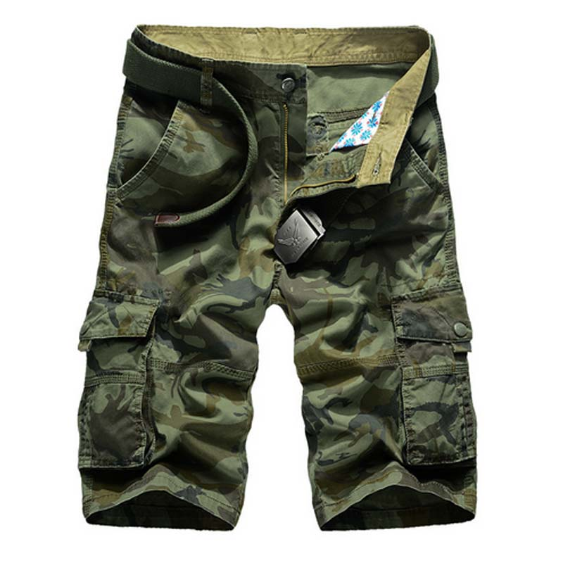 Summer Camouflage Cargo Short Men 2018 New Loose Casual Short Regular Cotton Pockets Military Trousers Pants No Belt 2018 4XL