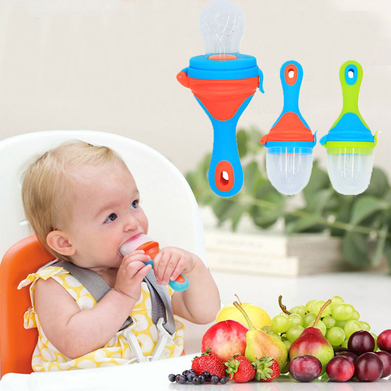2017 New 1Pcs Food Nibbler Baby Pacifiers Nibler Nipple Pacifiers for Baby Fruit Feeder Nipples Feeding Safe Nipple Pacifier