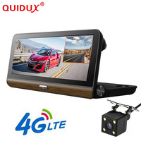QUIDUX Car Dash Camera DVR 8.0 Android 1080P Video Recorder 3G/4G GPS Navigation Bluetooth G Sensor Quad Core 1GB RAM 16GB ROM