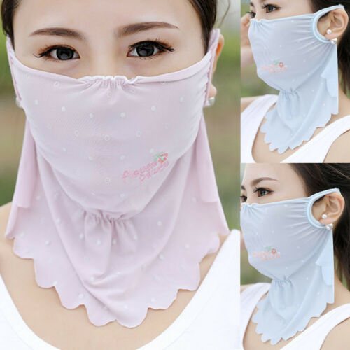Outdoor Sports Women Mask Sun UV Protection Ultra Thin Summer Sunscreen Full Face Mask