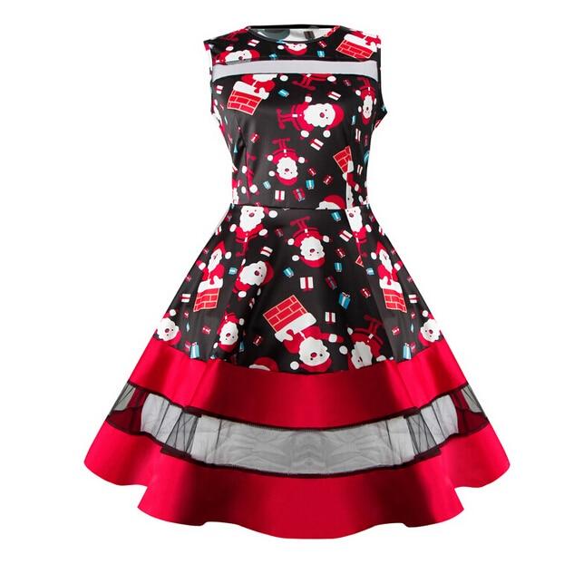 Detail Feedback Questions about Chrismas Woman Ladies Vintage Santa Snowman  Print Mini Tutu Dresses Xmas Gift Sleeveless Evening Party Skater Dress  Vestidos ... 27b16e46079e