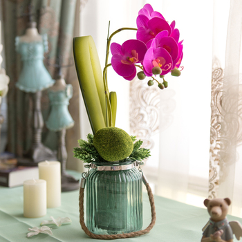 Elegant orchid bowyer artificial   decoration flower entranceway flower dining table flowers